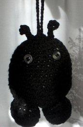 Pupazzetto amigurumi portachiave ciondolo coccinella portafortuna