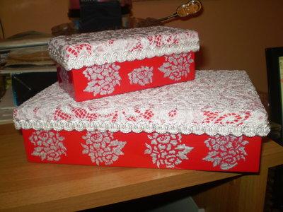 set 2 scatole in cartone lucido