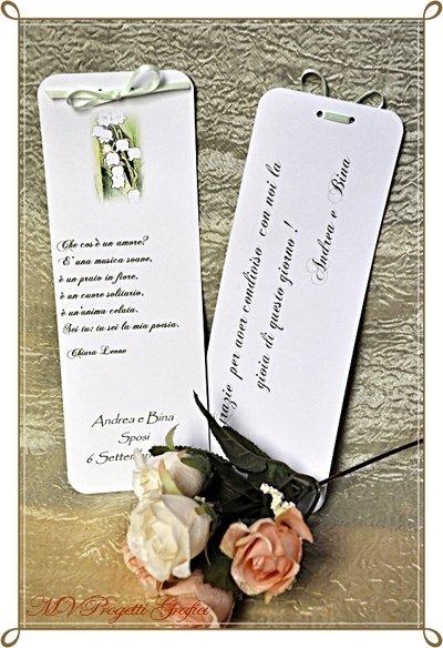 Matrimonio Frasi : Segnaposto poesia decorato a mano con nastrino