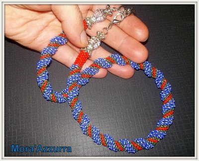 collana con perline spirale cellini
