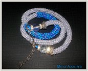 collana perline spirale crochet