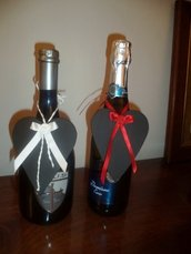 Cuori di lavagna per bottiglie