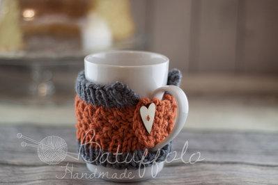 copri tazza - mug fatto a maglia ; BatuffoloHandmade