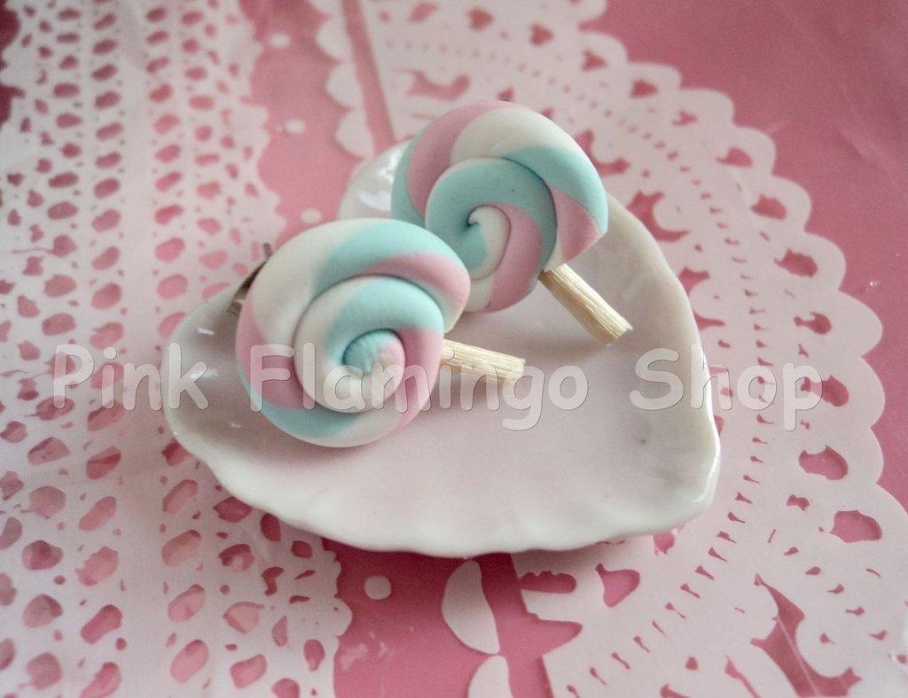 Orecchini lollipop in Fimo 2