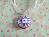 Collana Torta - Organza e Fimo - sweetness - kawaii