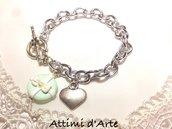 """bracciale in alluminio chiusura a T modello """"round"""" collezione Tiffany Love"""