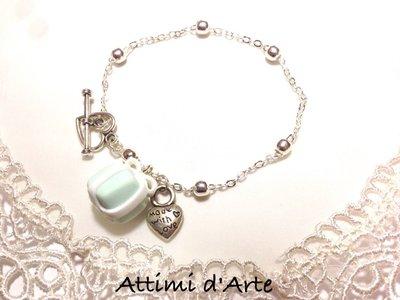 """bracciale elegante a pallini chiusura a T modello """"classic"""" collezione Tiffany Love"""