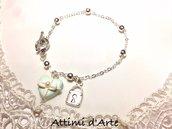 """bracciale elegante a pallini chiusura a T modello """"heart"""" collezione Tiffany Love"""