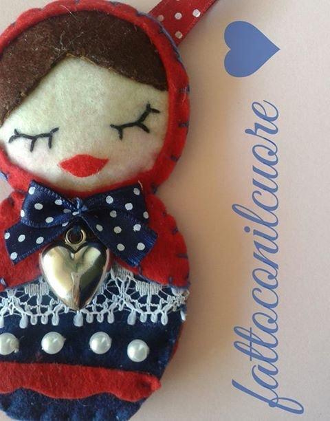 portachiavi  ciondoli Matrioska personalizzabile idea regalo san Valentino