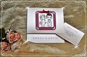 """PARTECIPAZIONE di matrimonio pieghevole pearlescente collezione De luxe """"LOVE is.."""" - decorata a mano e personalizzabile"""