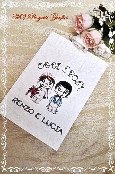 """PARTECIPAZIONE RICAMATA pieghevole collezione """"Love is.."""""""