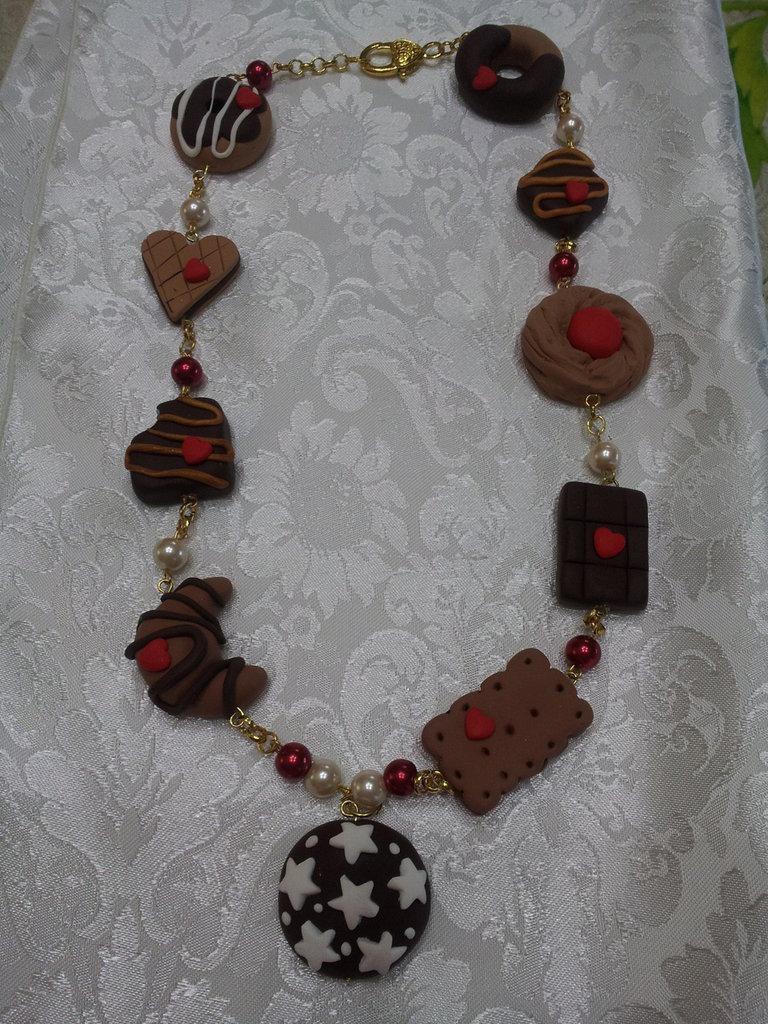 Collana con biscotti Fimo