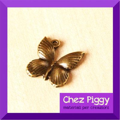 Charm a forma di farfalla - bronzo