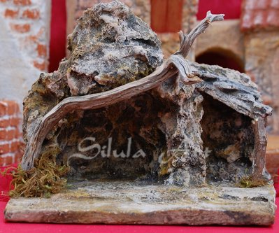 Presepe artigianale, grotta natività mod.1