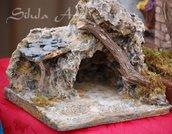 Presepe artigianale, grotta natività mod.2