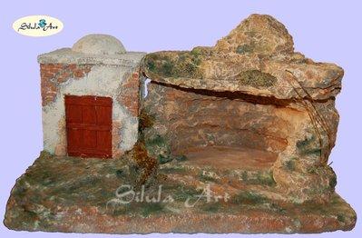 Presepe Artigianale - Grotta e casa palestinese