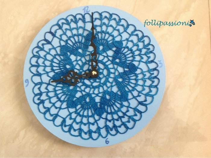 Orologio folle in blu