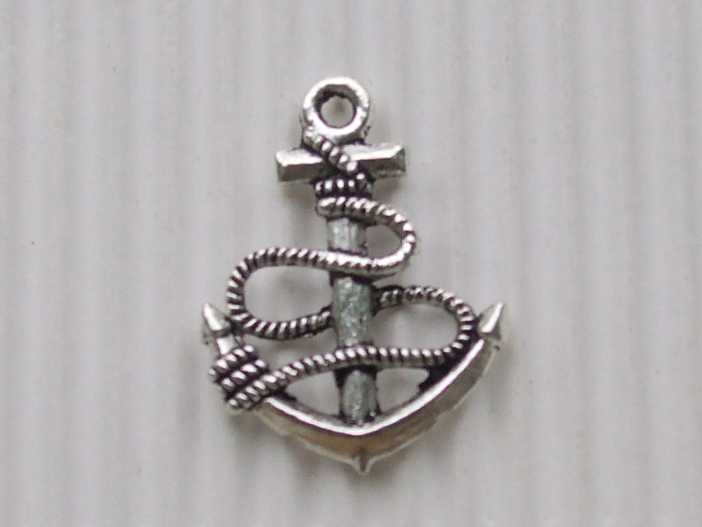 4 charms ancora 25x20mm in metallo