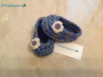 Scarpine baby in morbida lana