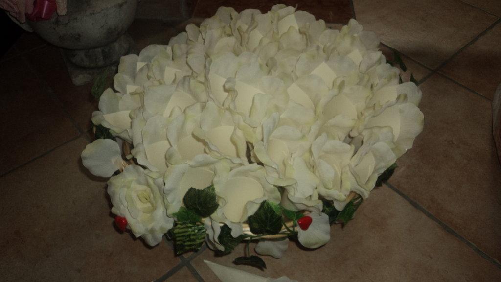 """n. 50 coni x riso/confettata """"petali panna"""""""