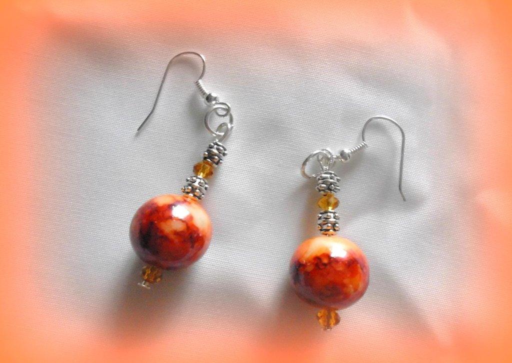 orecchini pietra arancio
