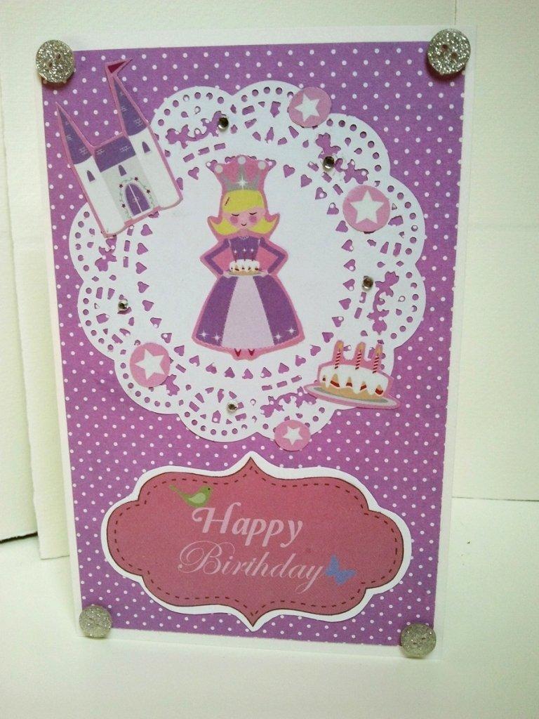 Biglietto buon compleanno con disegno di principessa