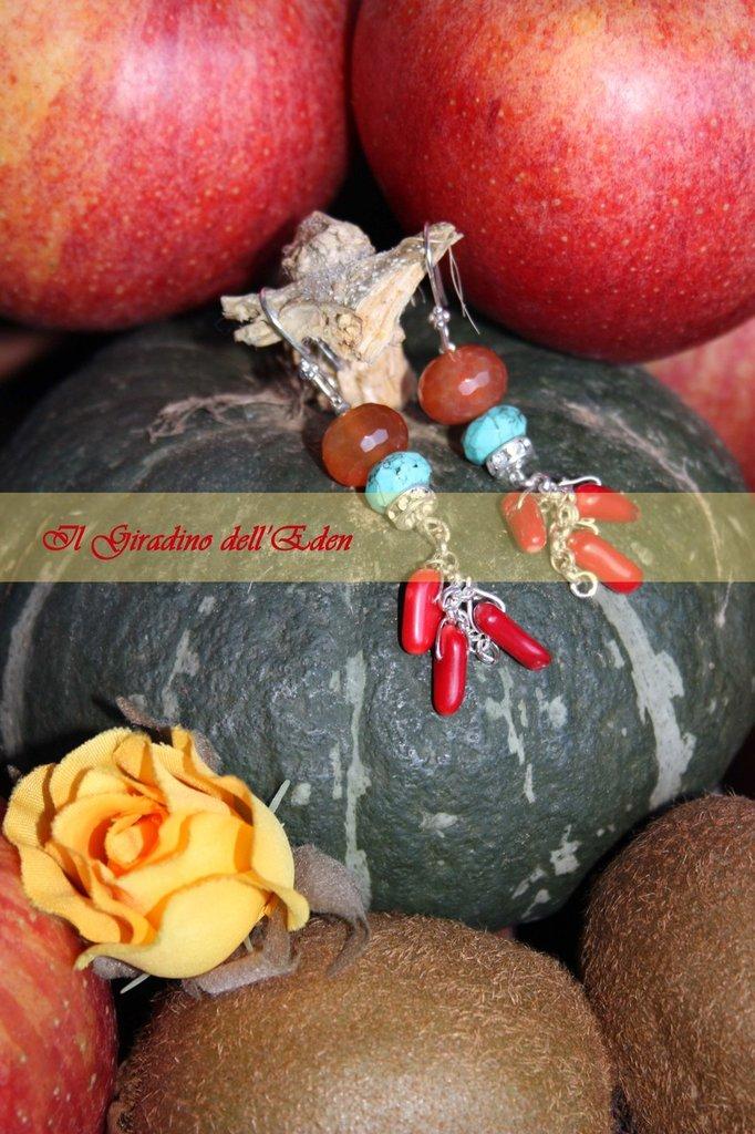 collezione fiori di zucca - orecchini