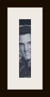 schema bracciale Elvis Presley in stitch peyote ( 2 drop ) pattern - solo per uso personale