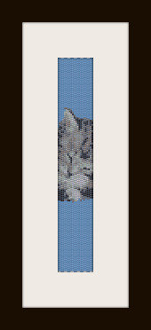 schema bracciale Gattino in stitch peyote ( 2 drop ) pattern - solo per uso personale