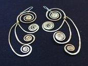 orecchini Pavone d'Ottone