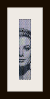 schema bracciale Grace Kelly in stitch peyote ( 2 drop ) pattern - solo per uso personale
