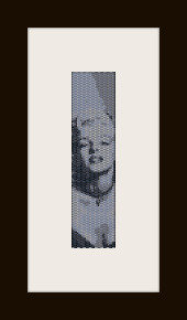 schema bracciale Marilyn Monroe 2 in stitch peyote ( 2 drop ) pattern - solo per uso personale