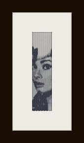 schema bracciale Audrey Hepburn 2  in stitch peyote ( 2 drop ) pattern - solo per uso personale