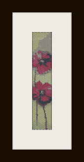 schema bracciale fiori in stitch peyote ( 2 drop ) pattern - solo per uso personale