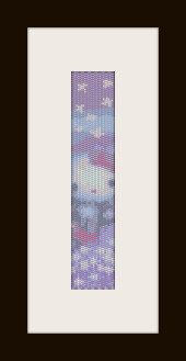 schema bracciale H. Kitty Angel in stitch peyote ( 2 drop ) pattern - solo per uso personale