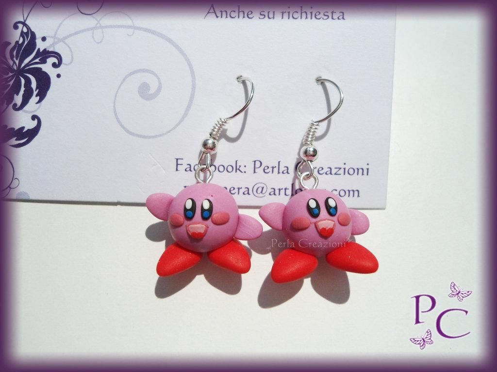 ✿ OFFERTA 5,00€!!! ✿ Orecchini pendenti - Kirby