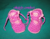 Uncinetto baby scarpe Crochet baby shoes baby girl  Hand made