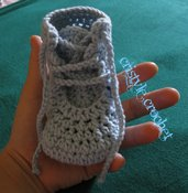 Uncinetto baby scarpe con lacci Crochet baby shoes baby boy Hand made