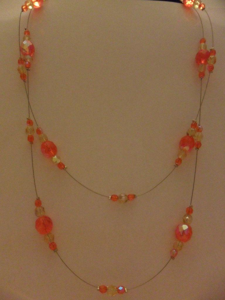 Collana doppia arancio
