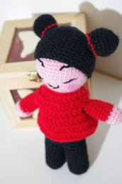 Bambola Amigurumi Pucca Funny Love - Kawaii - Doll - Su ordinazione - Made to order