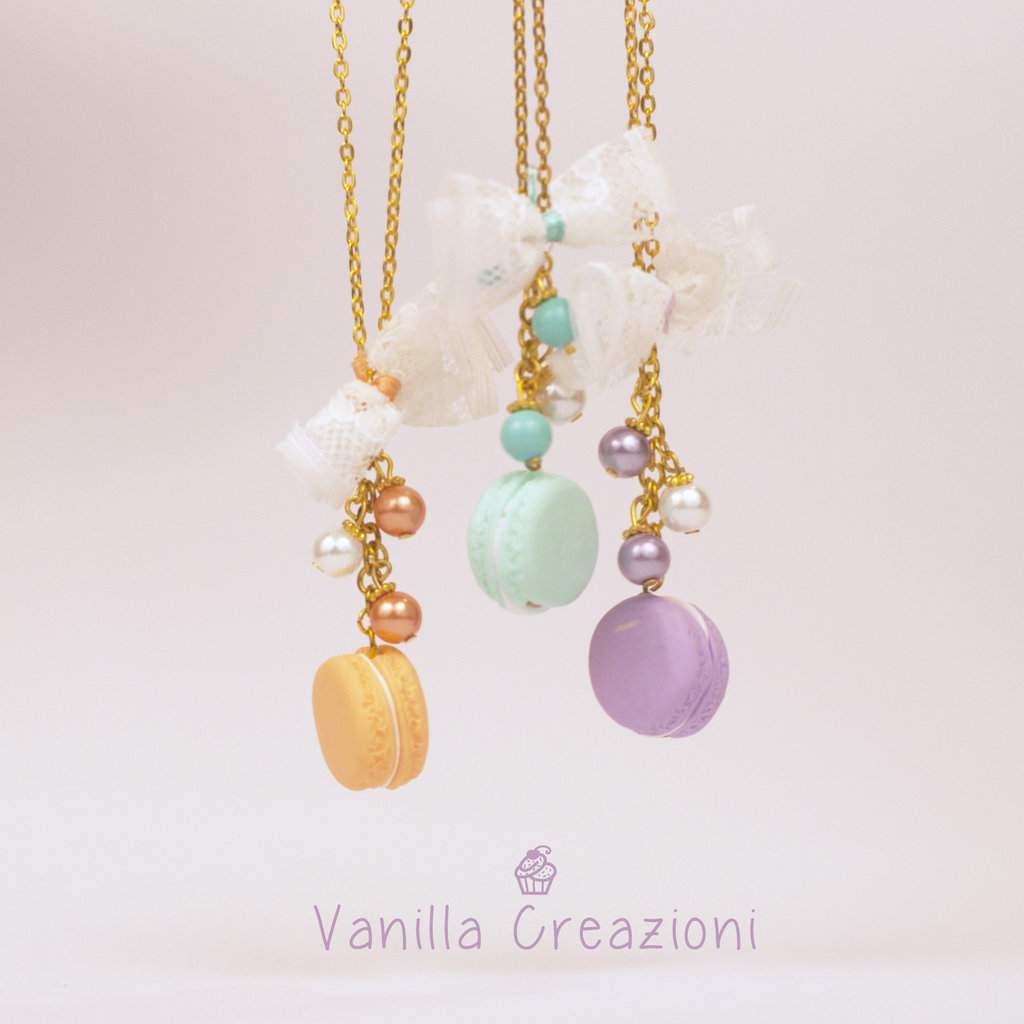 "Collana con charms in fimo - ""Macarons"""