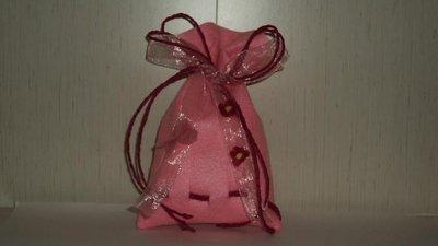 """sacchetti per confetti fai da te artigianali """"onda rosa"""""""