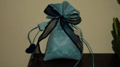 "sacchetti per confetti fai da te ""cuori blu"""