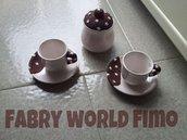 Tazza da caffe e zuccheriera di pan di stelle