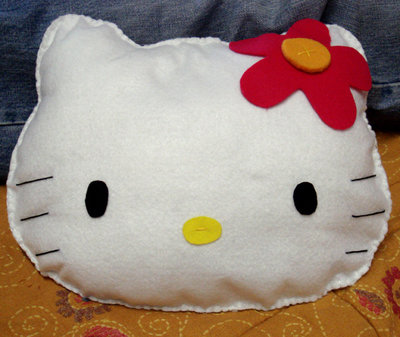 Cuscino Hello kitty in feltro