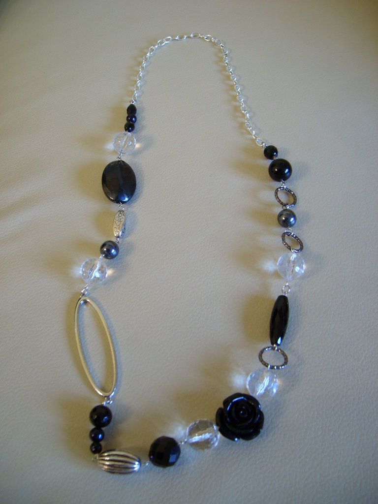 "COLLANA LUNGA FASHION ""Black & White"""