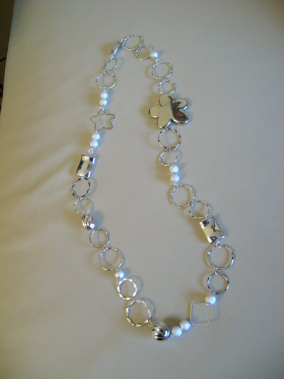 "COLLANA LUNGA FASHION ""White Dream"""
