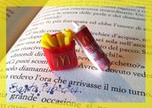 Orecchini Mc Donald's in fimo