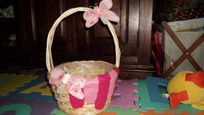 """cestino porta sacchetti o ricordini feste e cerimonie """"farfalla"""""""