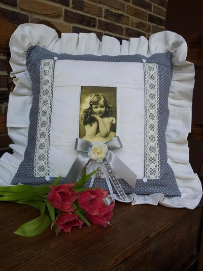 Cuscino romantico in stile vintage